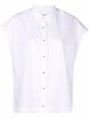 Рубашка из органического хлопка с короткими рукавами Closed. Цвет: белый
