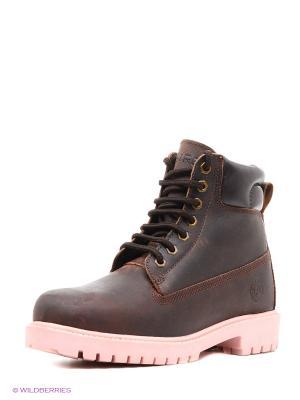 Ботинки Airbox. Цвет: коричневый