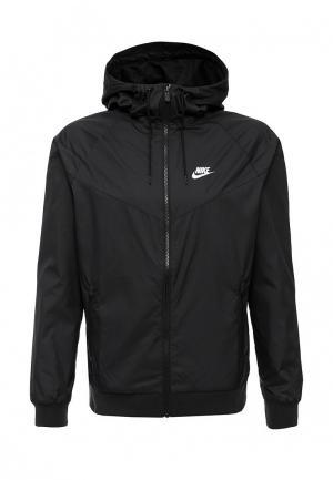 Ветровка Nike. Цвет: черный