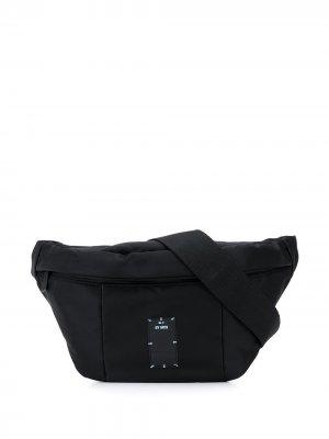Поясная сумка с нашивкой-логотипом MCQ. Цвет: черный