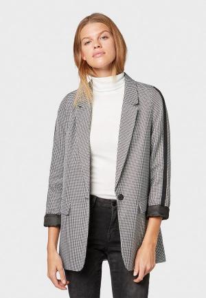 Пиджак Tom Tailor Denim. Цвет: серый