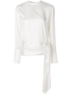 Блузка с завязками сбоку Stella McCartney. Цвет: нейтральные цвета
