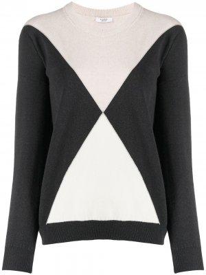 Двухцветный свитер Peserico. Цвет: серый